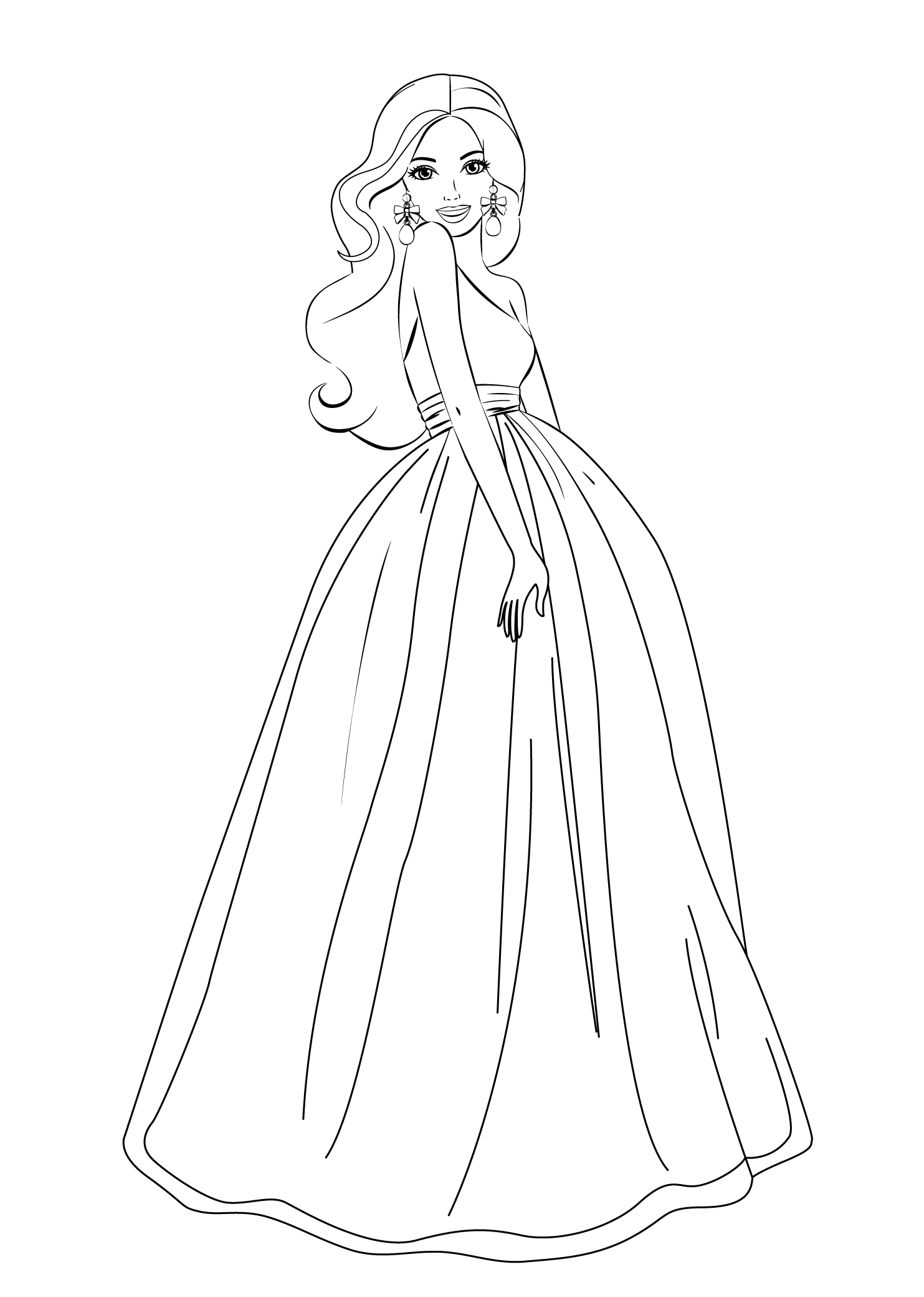 barbie print out coloring pages - photo#35