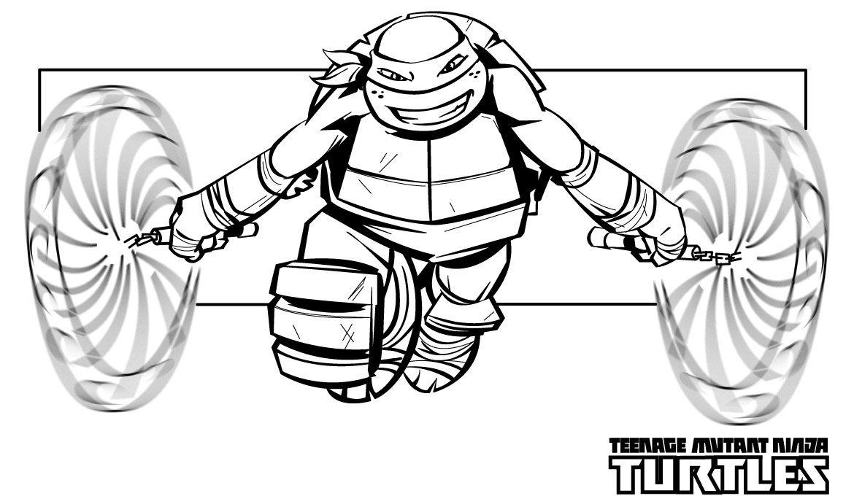 - Teenage Mutant Ninja Turtles Free Coloring Page Printable