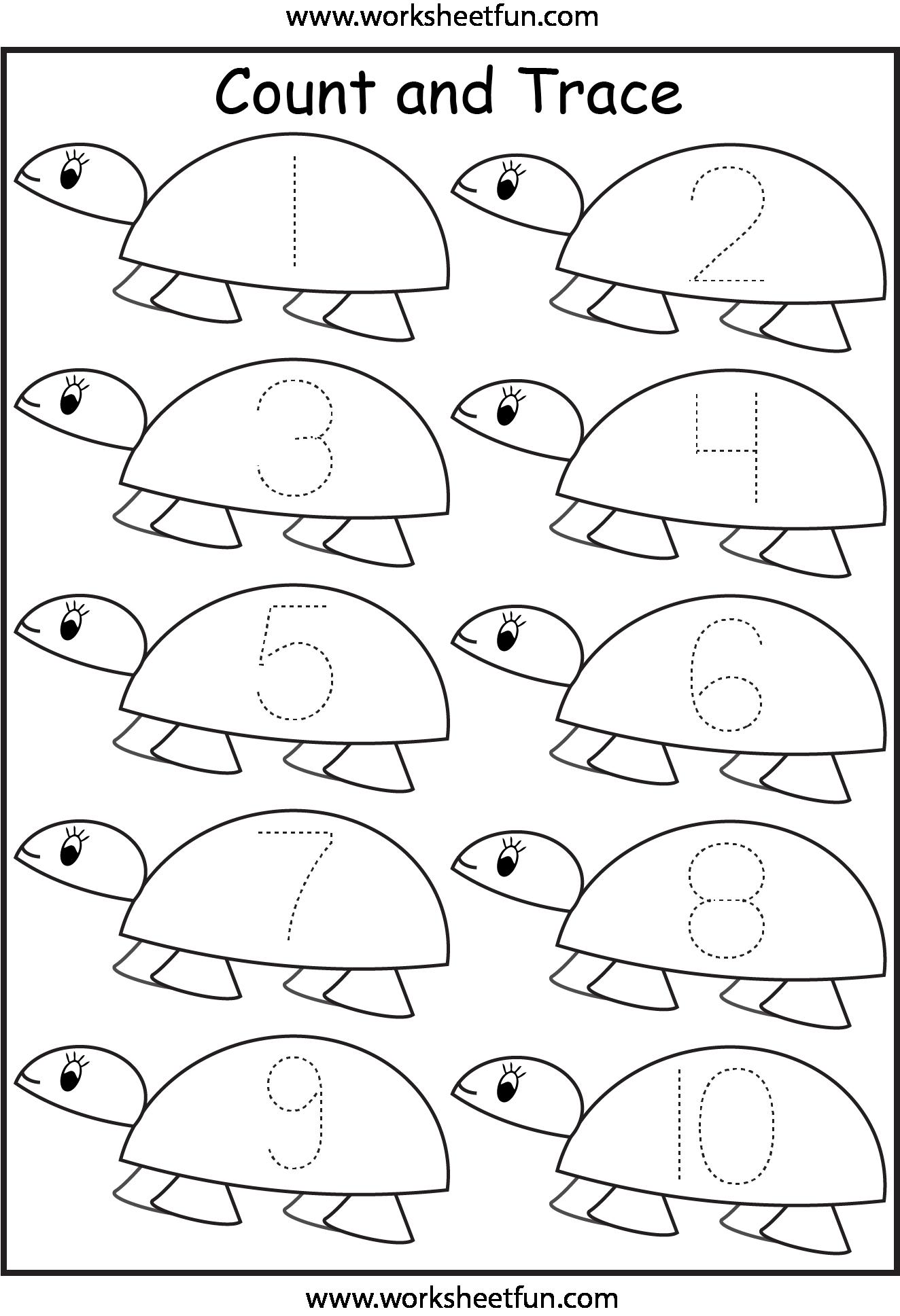 math worksheet : traceable pictures  az coloring pages : Kindergarten Number Tracing Worksheets
