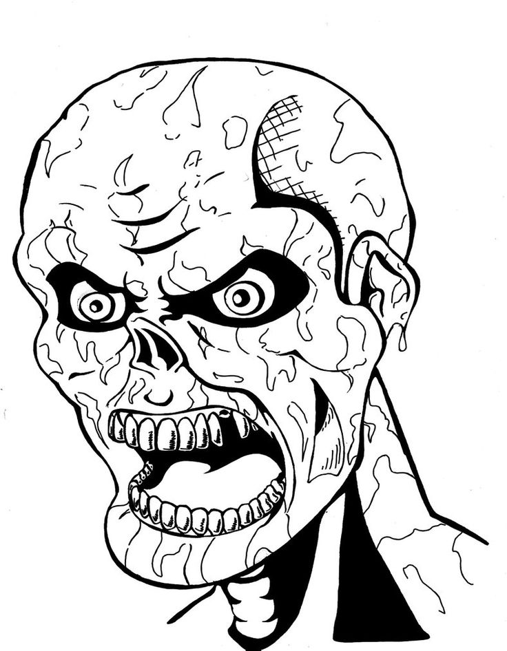 Scary Zombie Coloring Page