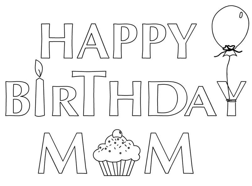 Happy birthday coloring pages for mom az coloring pages for Happy birthday mommy coloring pages