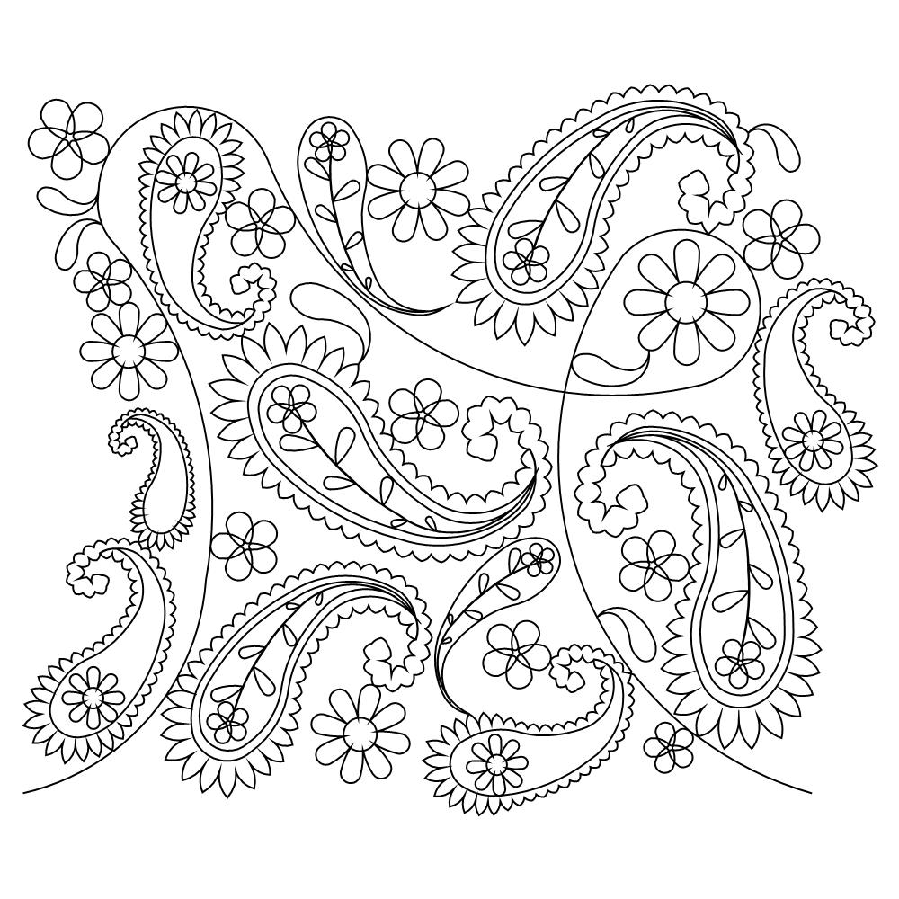 Simple Pattern Design Ideas: Paisley Coloring Pages