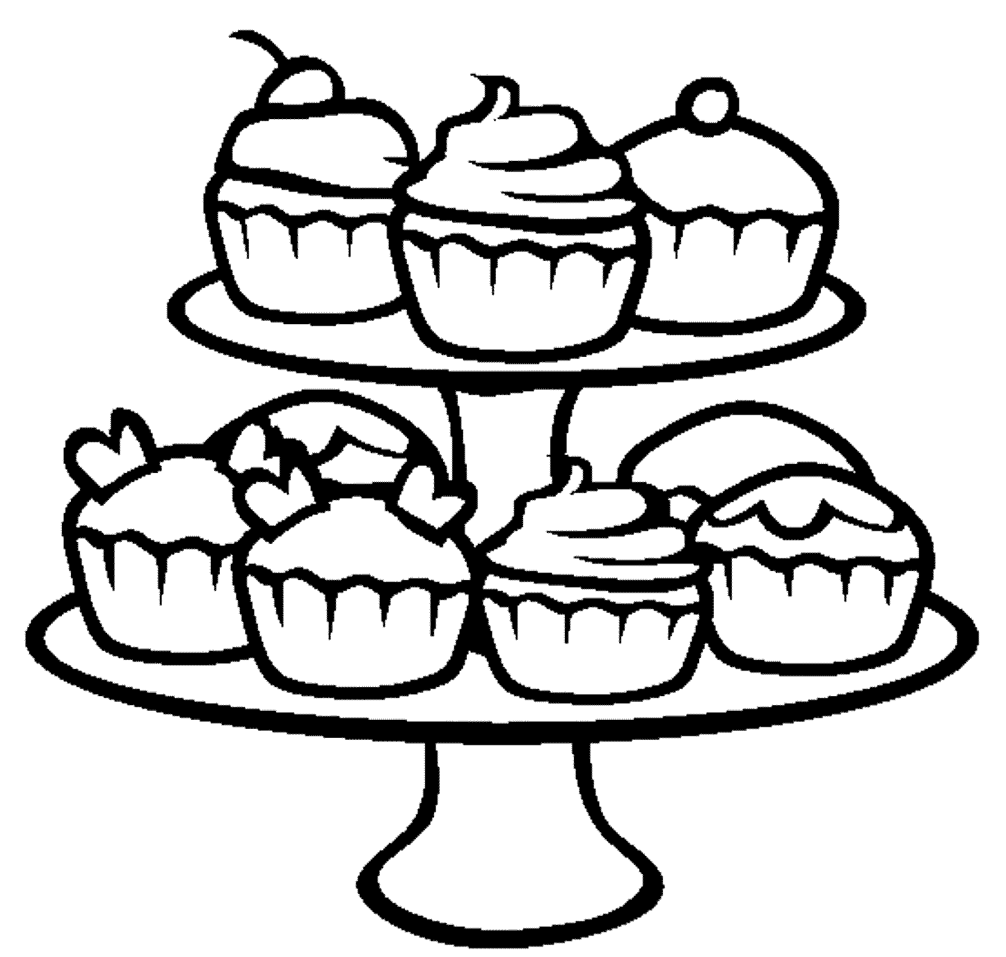 Cupcake Printable Coloring Pages - Coloring Home