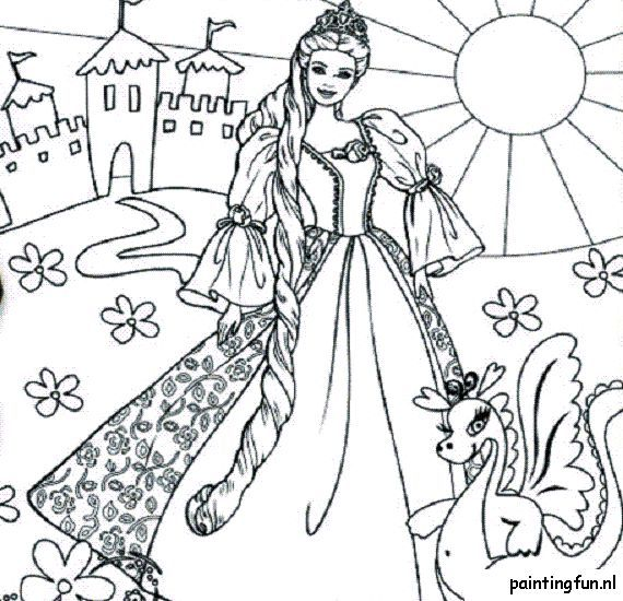 princess barbie coloring pages - High Quality Coloring Pages