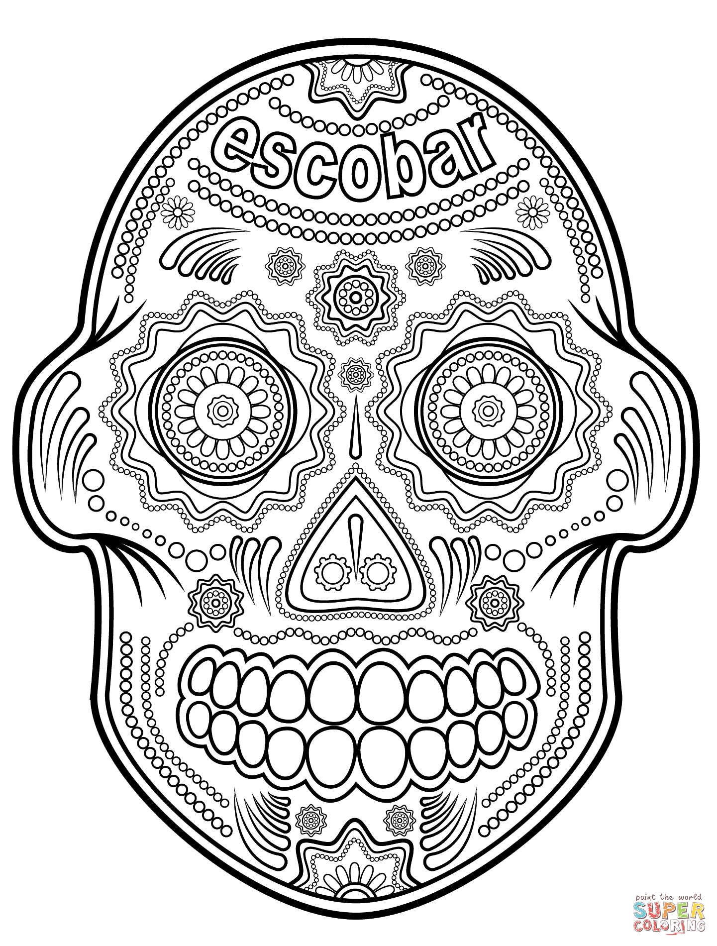 Sugar Skulls coloring pages | Free Coloring Pages