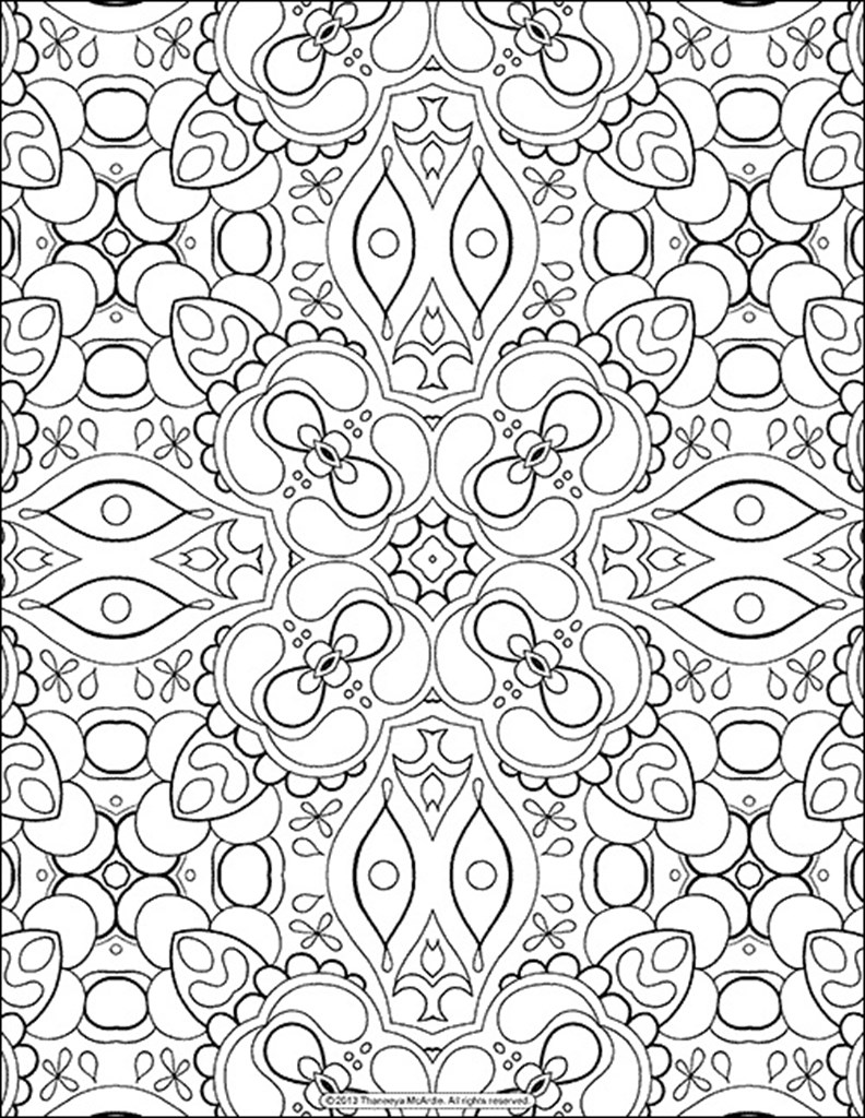 Coloring In Sheets : Adult Coloring Page Coloring Home