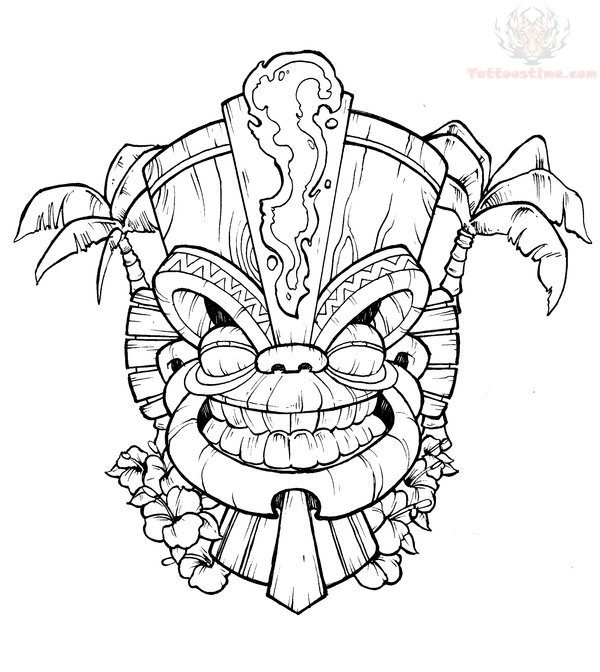 free tiki mask coloring pages   Tiki Mask Coloring Pages - Coloring Home