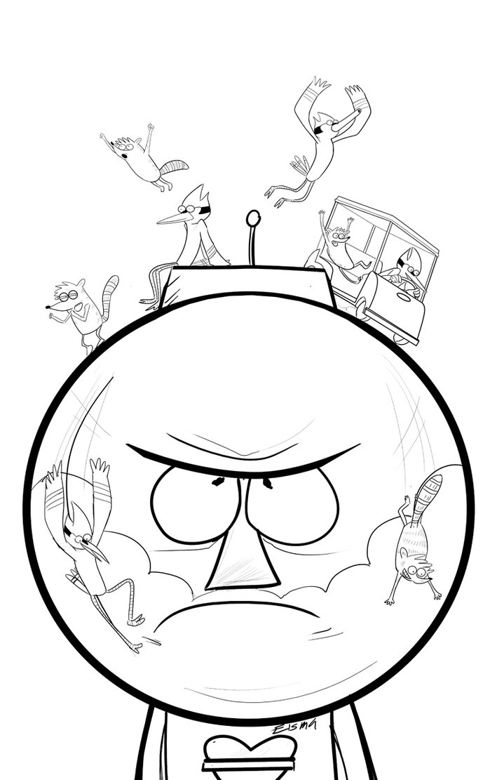 regular show characters coloring pages contegri com