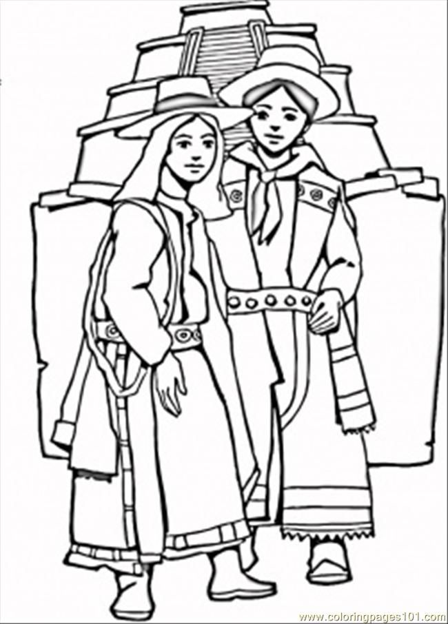 Mayan Coloring Pages Coloring Home