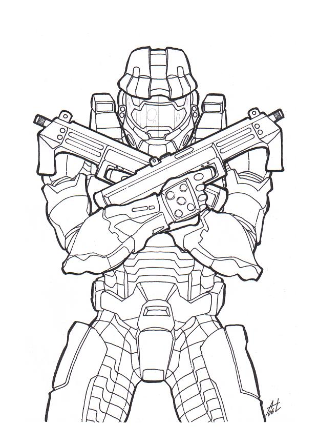 Halo Coloring Pages and Book | UniqueColoringPages