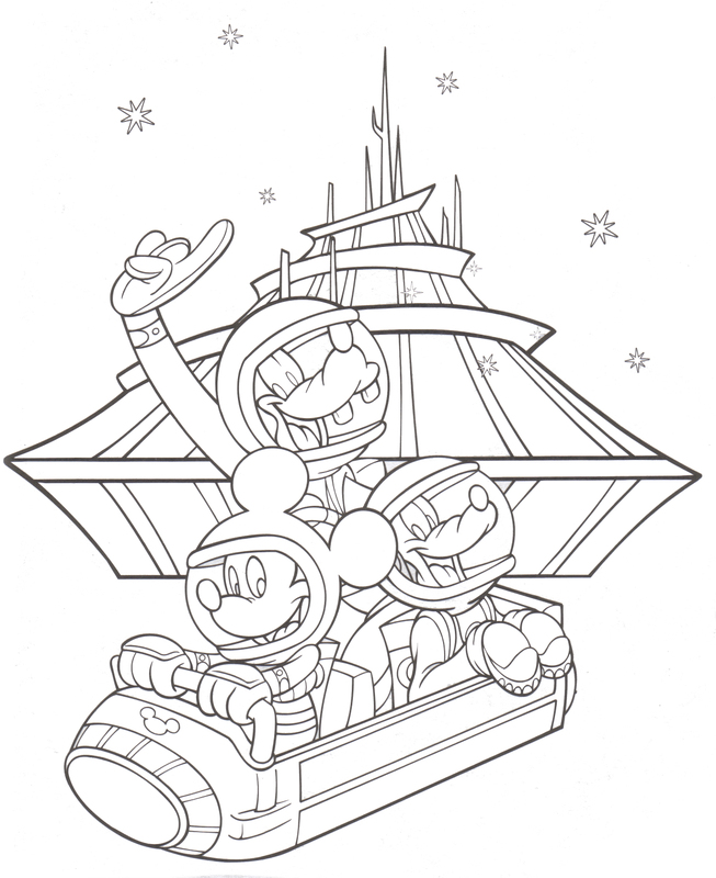 disneyland coloring pages printable - photo#7