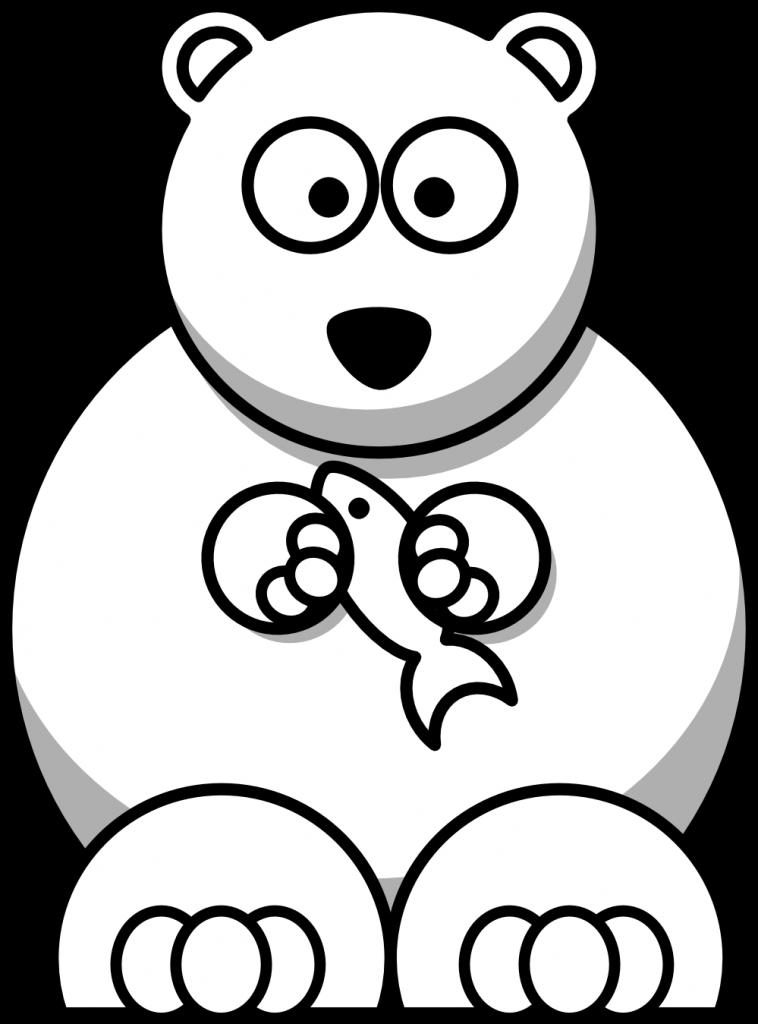 c oon bear black white christmas xmas stuffed animal coloring book