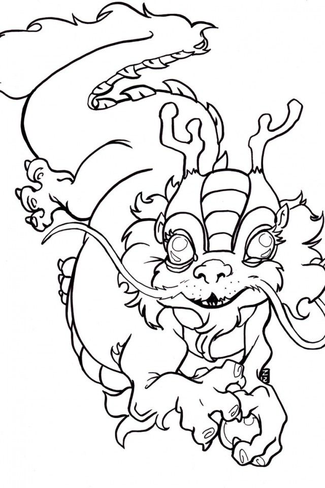 Chinese new year dragon coloring pages download free for Chinese new year dragon coloring page