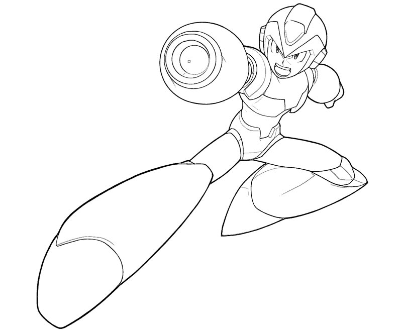 mega man coloring pages free - photo#19