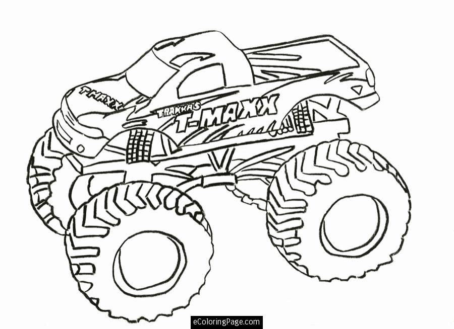 T MAXX Monster Truck Printable Coloring Page | eColoringPage.com