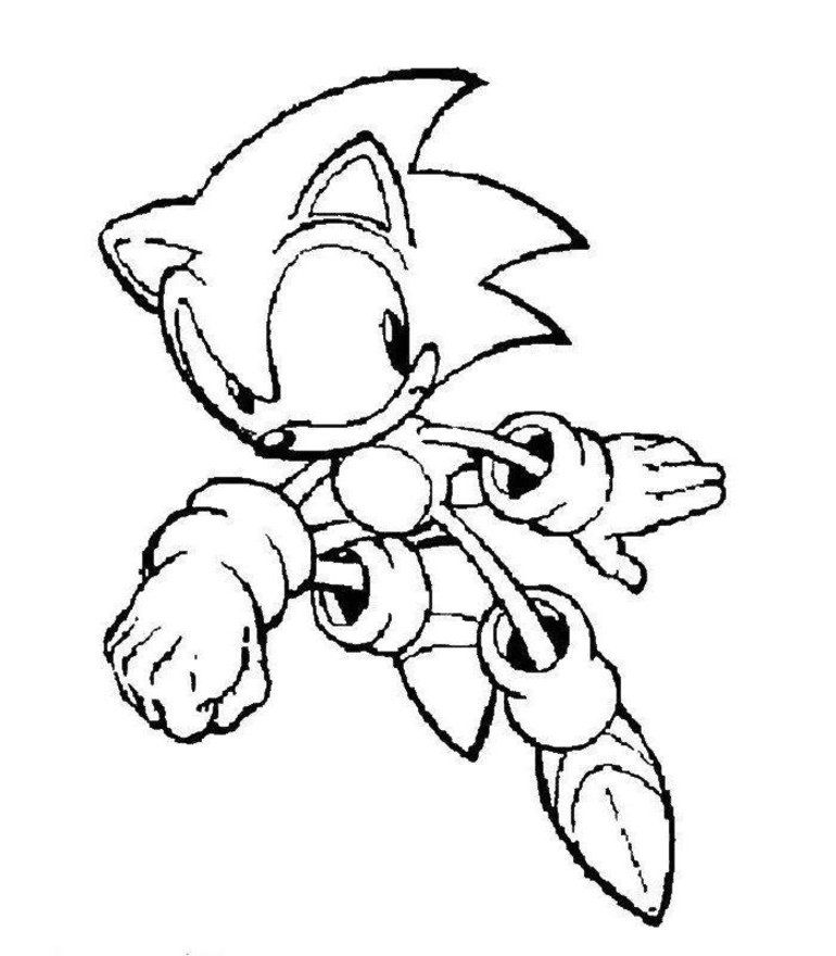 Print And Coloring Pages Sonic For Kids | Coloring Pages