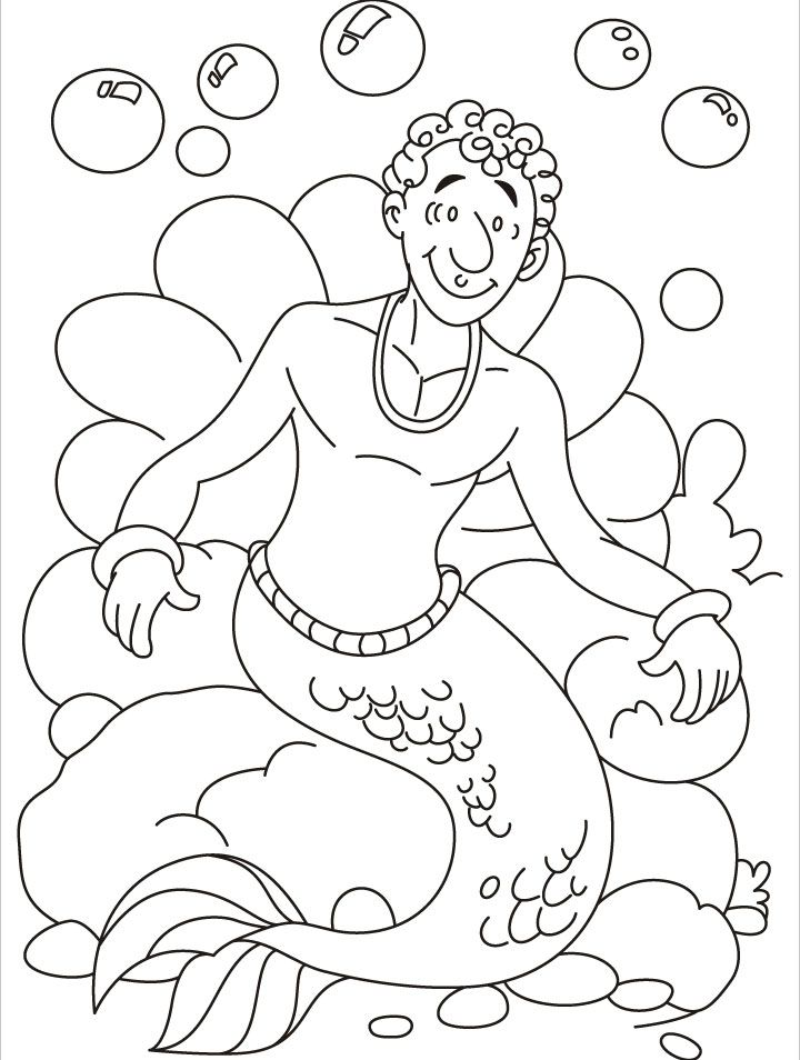 Pin on Coloring Pages *Sea / Mermaid / etc.   954x720