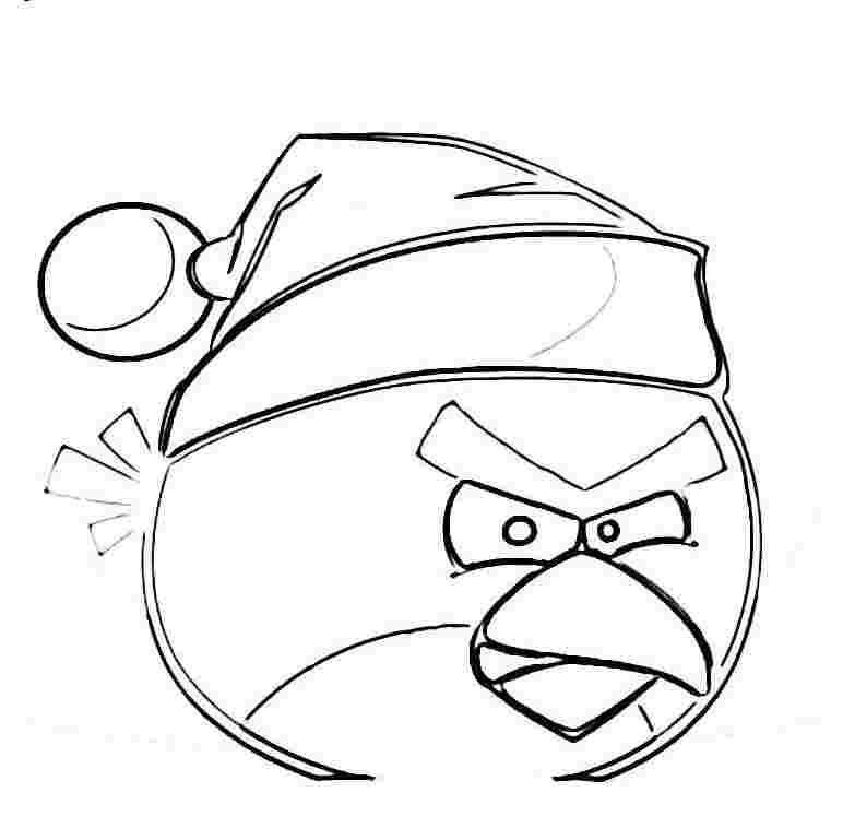 angry birds christmas coloring page « Printable Coloring Pages