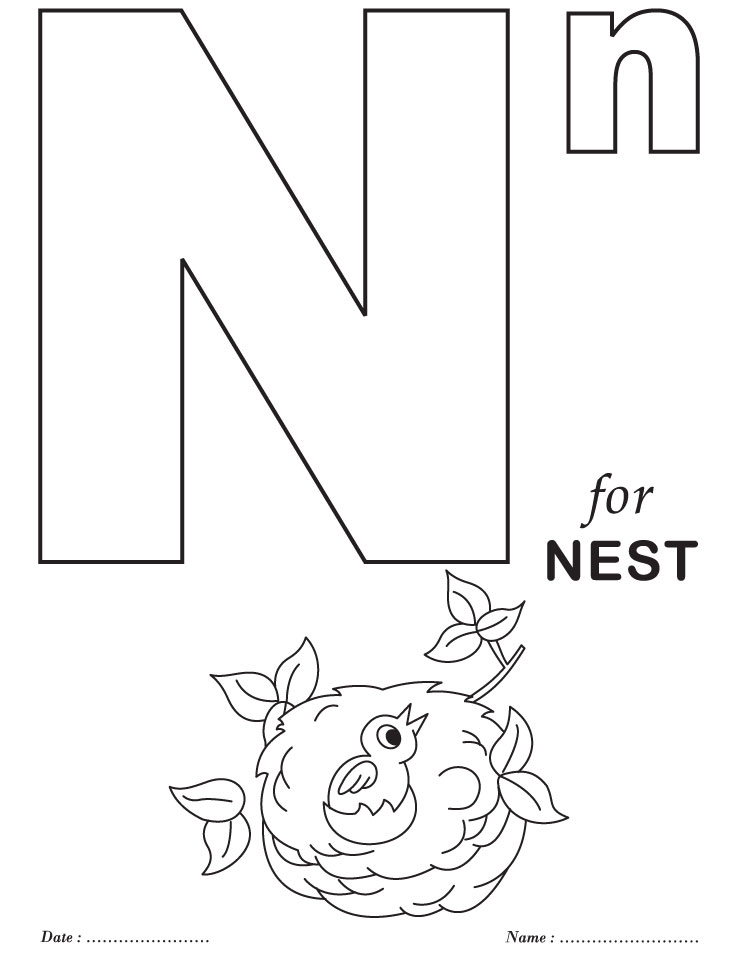 alphabet coloring pages for preschool - photo#7