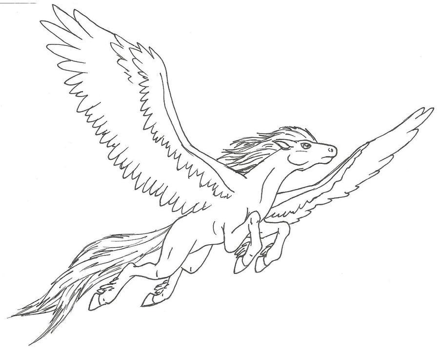 Drawings Of Pegasus
