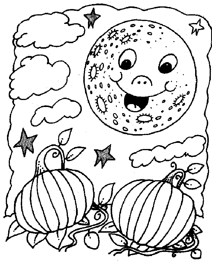Harvest Moon Coloring Pages Halloween Moon Coloring Pages