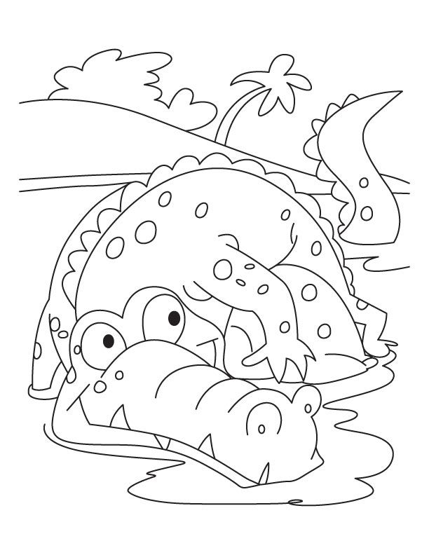 frightened alligator coloring pages download free frightened