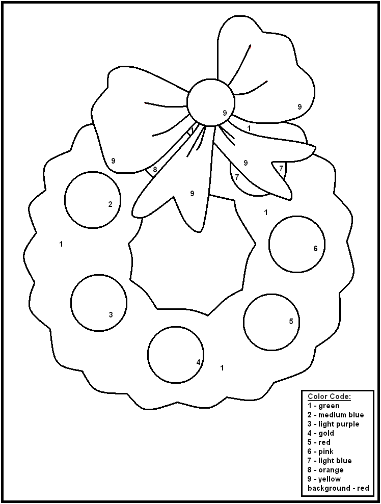 Color By Number Winter Worksheets - Coloring Home