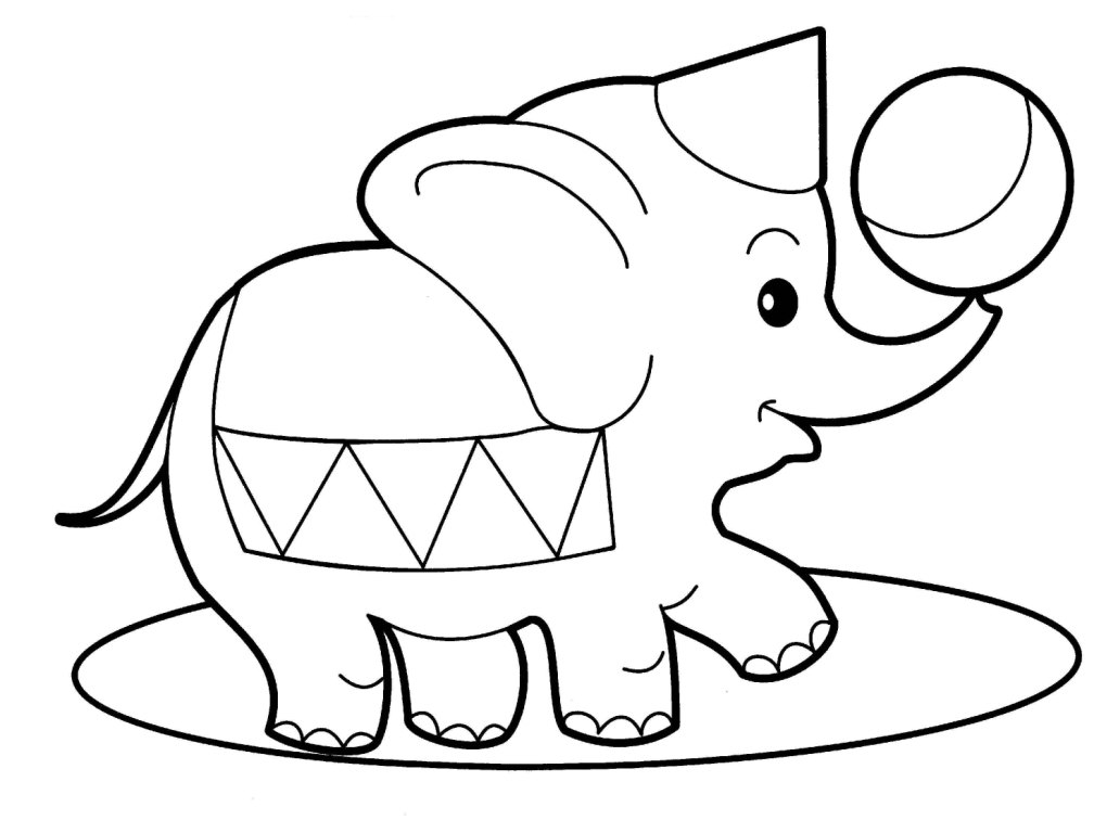 circus theme coloring pages - photo#8