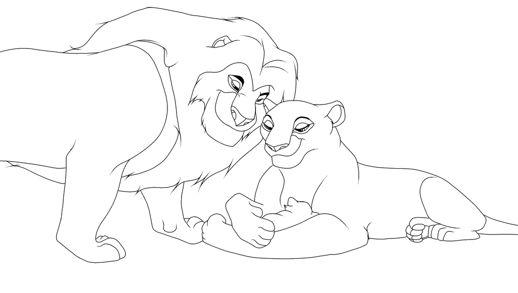 Lion King Mufasa and Sarabi Lineart by LokiTheDemon on deviantART