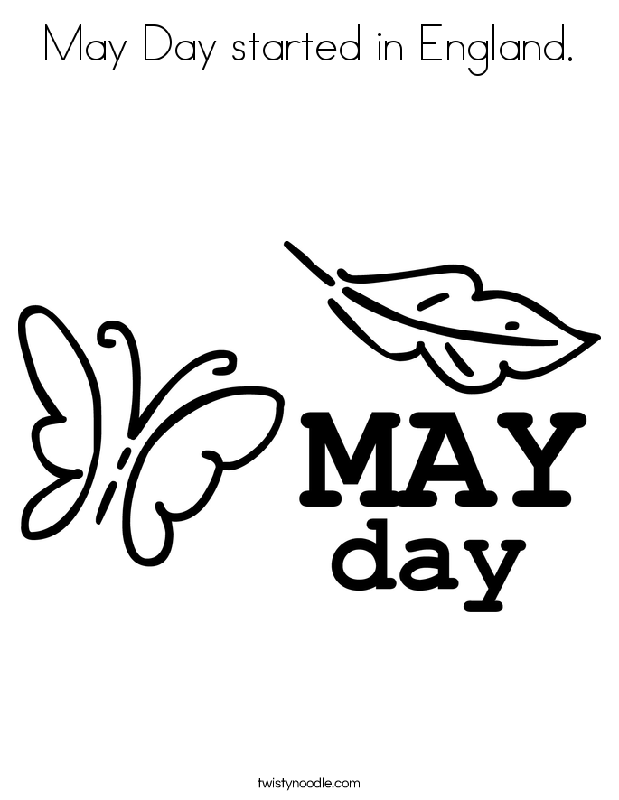 May Day Coloring Pages Coloring Home