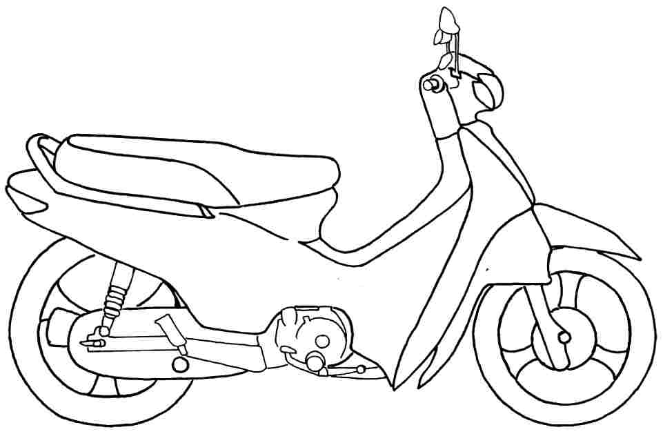 motorcycle taxi Colouring Pages