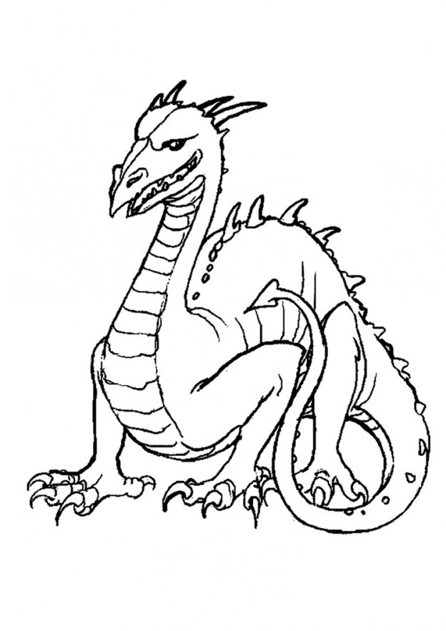 Dragons Coloring Page