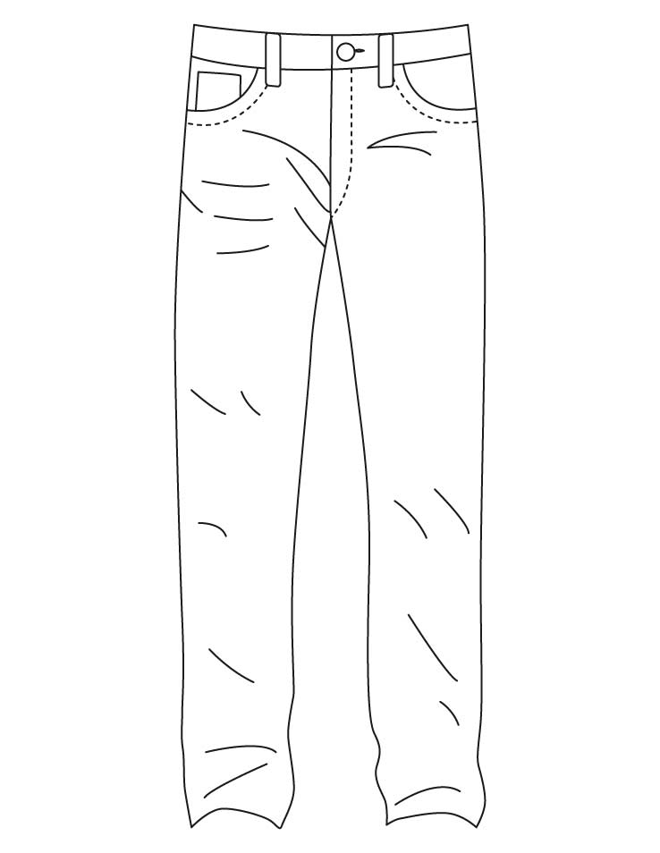 Blue Jeans Coloring Page Coloring Home