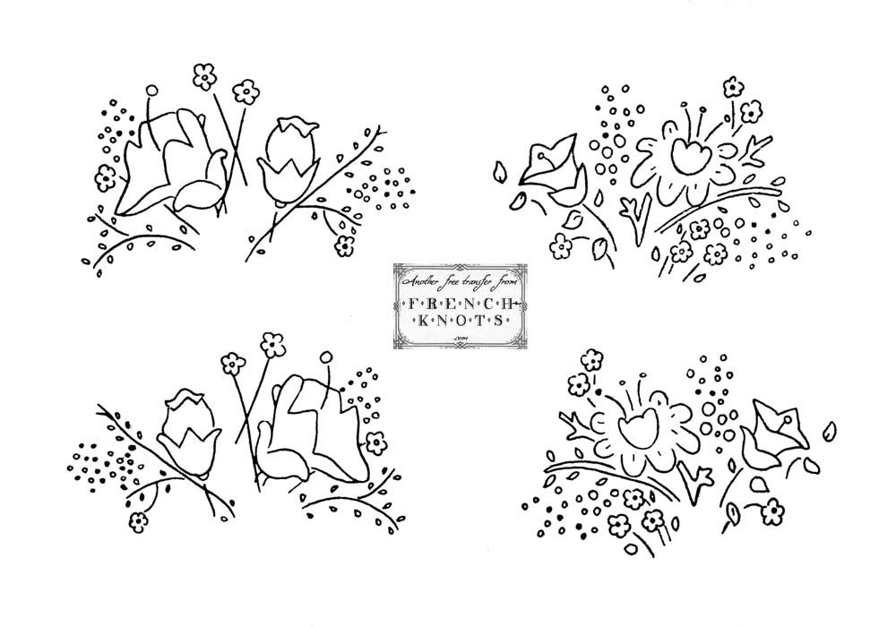 image relating to Printable Embroidery Transfer Paper named Flower Routines Towards Hint - Coloring Residence