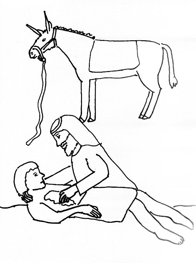 The Good Samaritan Coloring Page  Coloring Home