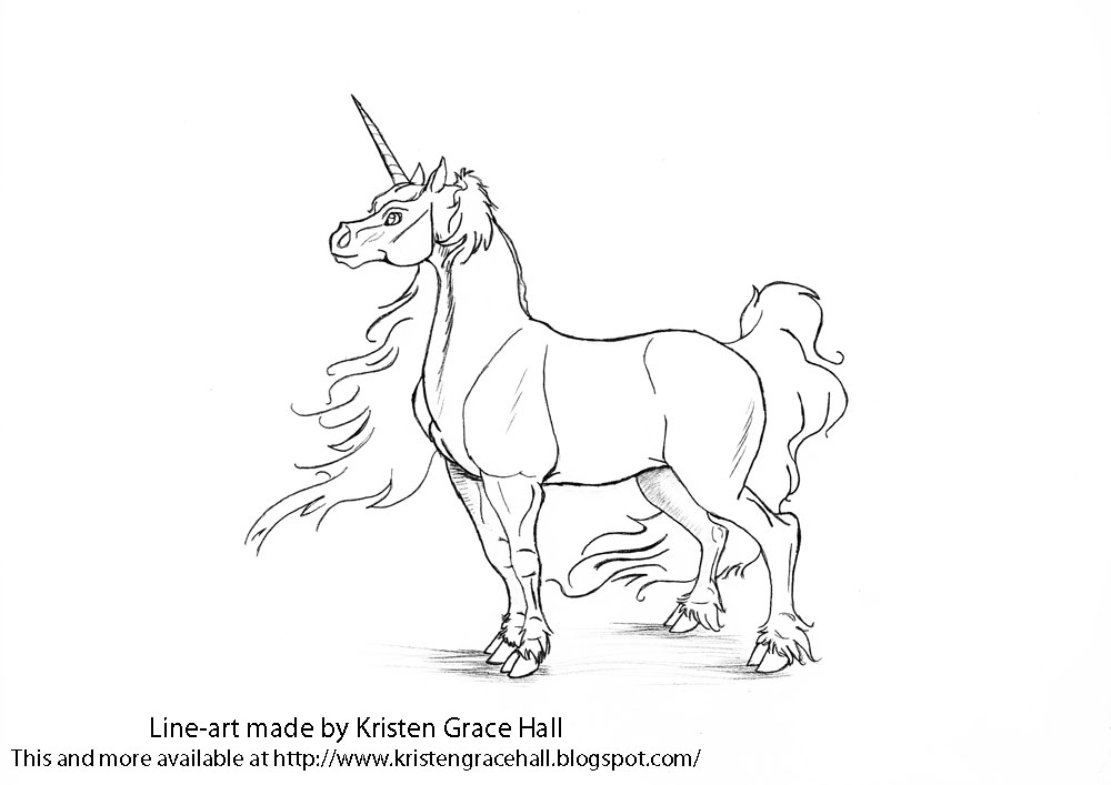 Unicorns Coloring Pages For Adults Unicorn Coloring Page - Free