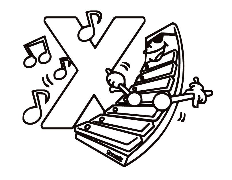 preschool coloring pages letter x images