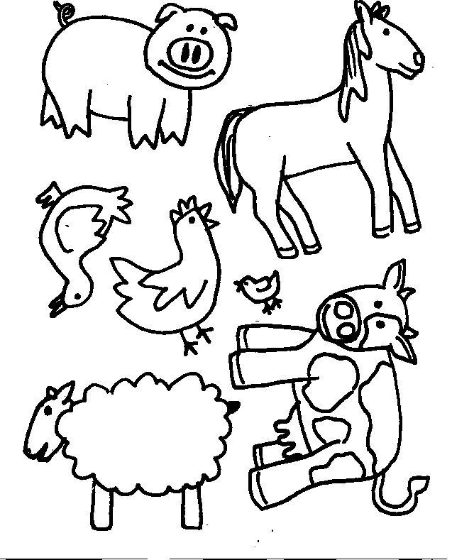 colour in farm animals az coloring pages