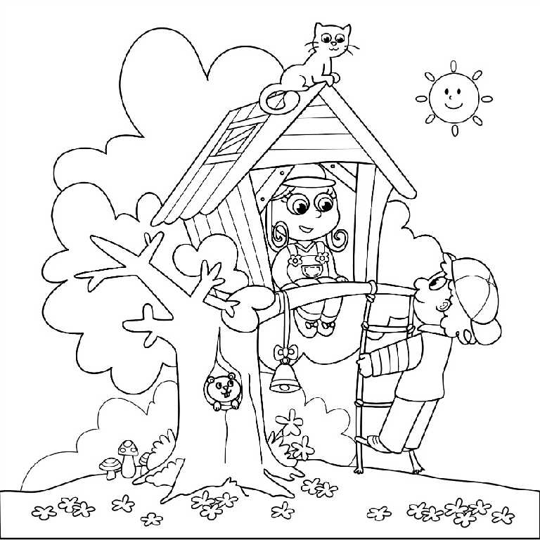 Tree House Coloring Pages To Print Coloring Pages Tree House Coloring Pages