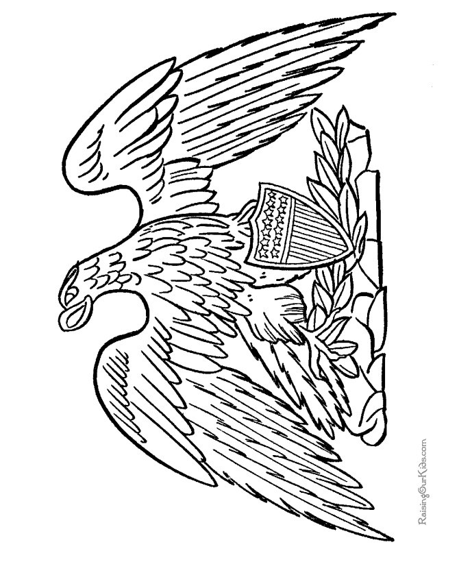 eagle coloring pages for kids - photo #47