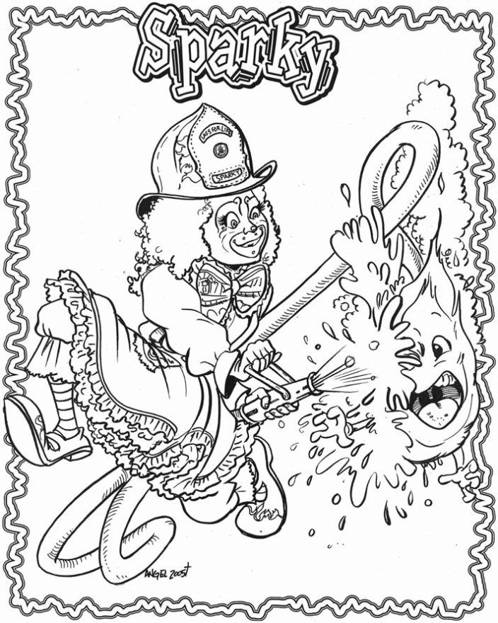 Sparky The Fire Dog Coloring Pages 103 | Free Printable Coloring Pages