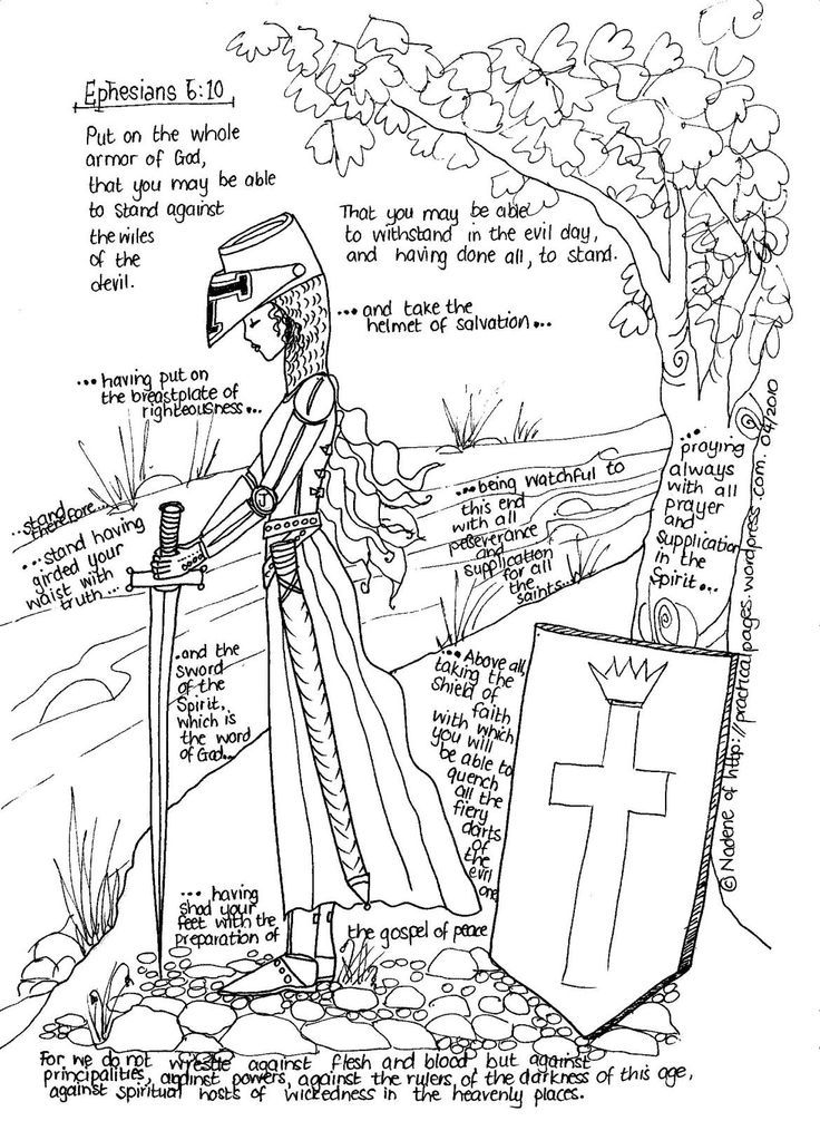 Full Armor of God (girls coloring page) | It's a girl thing! | Pinter…