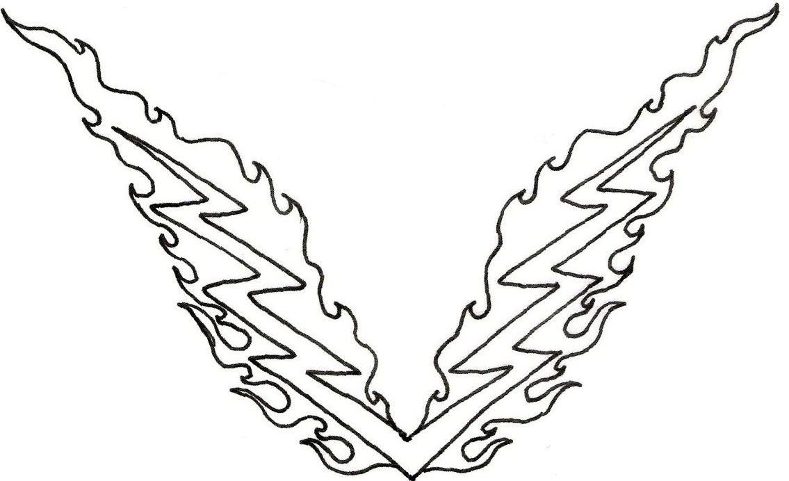 Lightning bolt coloring page coloring home for Lightning bolt coloring page