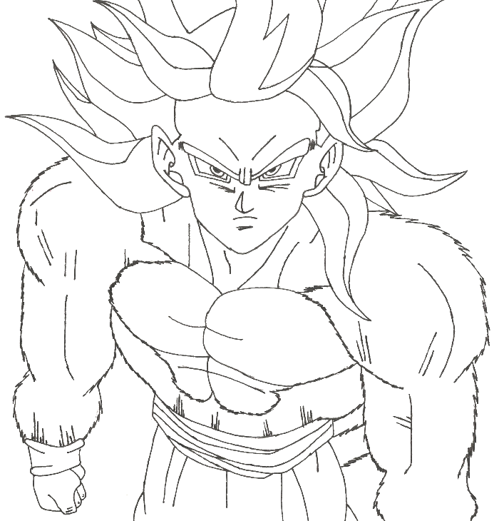 Dragon Ball Goku Super Saiyan 4 Coloring Pages - Dragon Ball