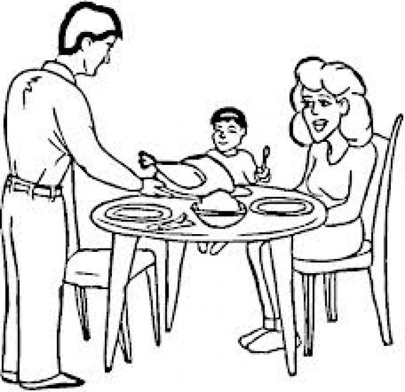 dinner table coloring page - photo #37