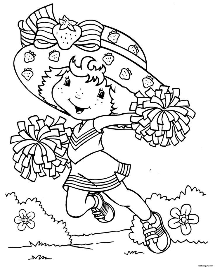 Vintage strawberry shortcake coloring pages coloring home for Strawberry shortcake coloring pages free printable