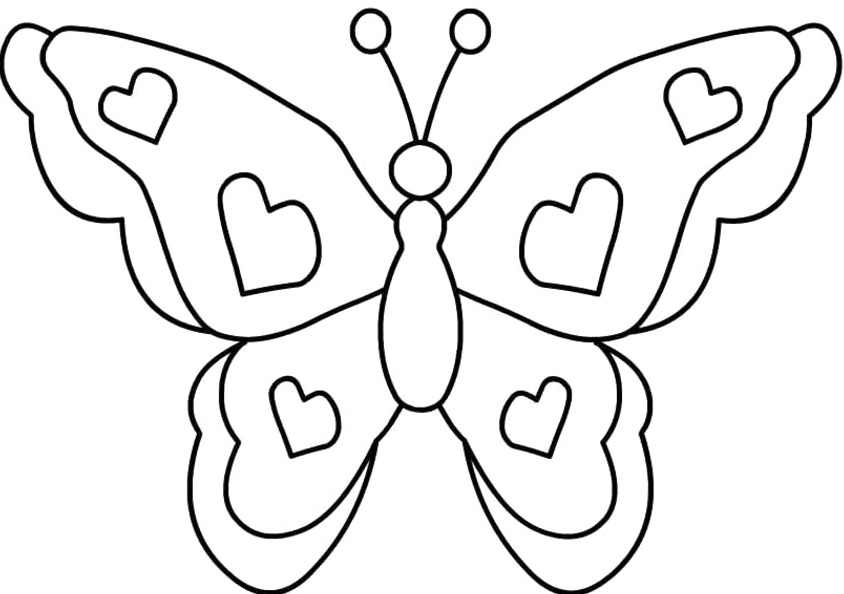 butterfly printables for kids az coloring pages