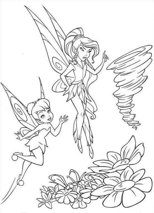 Tinkerbell And Fairy Friends Coloring Pages - Coloring Home