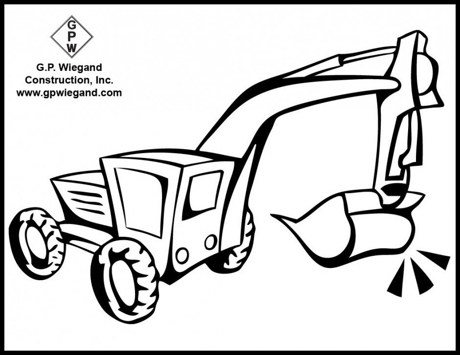 free construction vehicles coloring pages - photo#24
