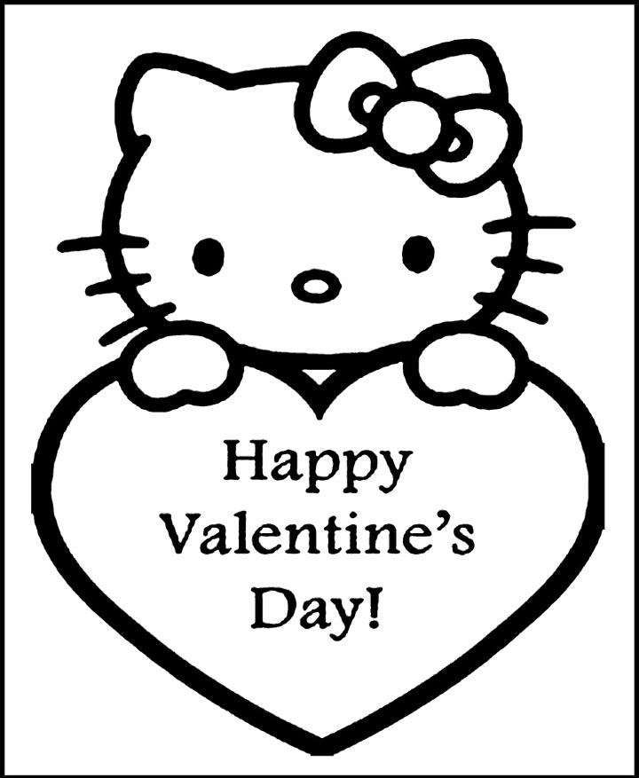 Happy valentines day coloring pages az coloring pages for Coloring page valentine